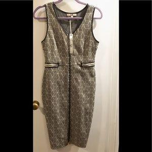 Anthropologie Sleeveless zipper dress